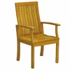 Three Birds Monterey Teak Dining Armchair