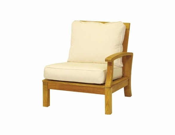 Three Birds Monterey Teak Sectional Right Side Facing Armchair