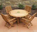 "Three Birds Oxford 42"" 5-Piece Dining Set"