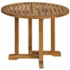 "Three Birds Oxford Teak 36"" Round Dining Table"