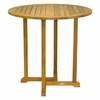 "Three Birds Oxford Teak 42"" Round Bar Table"