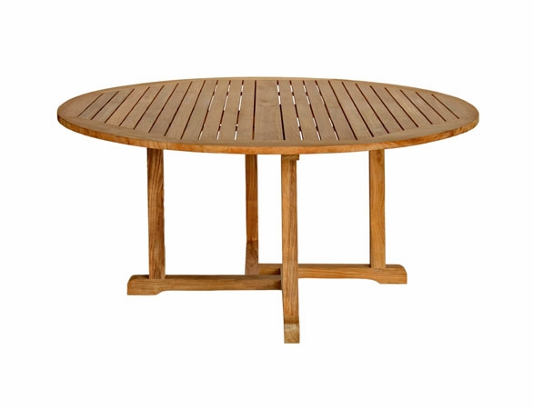 "Three Birds Oxford Teak 60"" Round Dining Table"