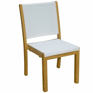 Three Birds Riviera Sling Stacking Side Chair   Set Of 2