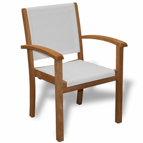 Three Birds Riviera Teak Stacking Arm Chair