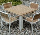 "Three Birds Soho Teak 36"" Square Dinng Table"