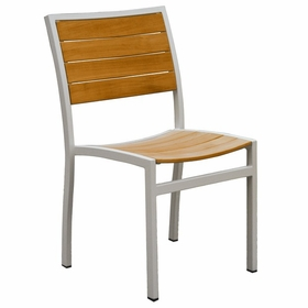 Three Birds Soho Teak Stacking Side Chair