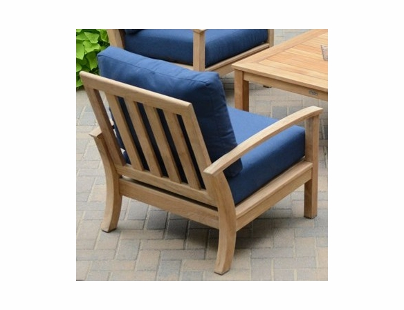 Three Birds St. Lucia Teak Deep Seating Arm Chair