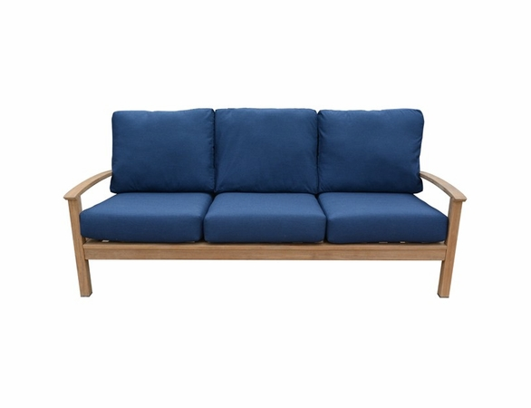 Three Birds St. Lucia Teak Deep Seating Sofa - Currently Unavailable