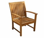 Three Birds St. Lucia Teak Dining Arm Chair