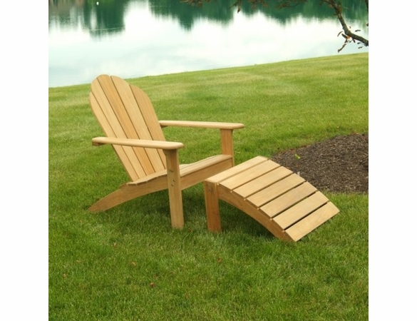 Three Birds Teak Adirondack Footstool