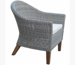 Three Birds Vienna Wicker Dining Arm Chair