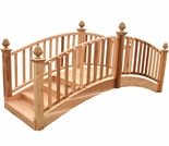 Traditional Cedar Arched Garden Bridge