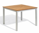 "Oxford Garden Travira 39"" Square Teak Top Dining Table"