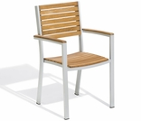 Oxford Garden Travira Teak Armchairs (Set of 2) - Reduced Closeout Pricing