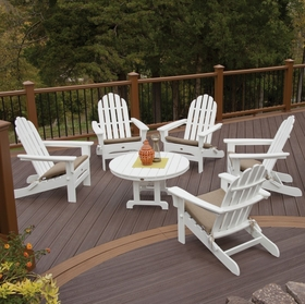 TREX Cape Cod Folding Adirondack Conversation Set