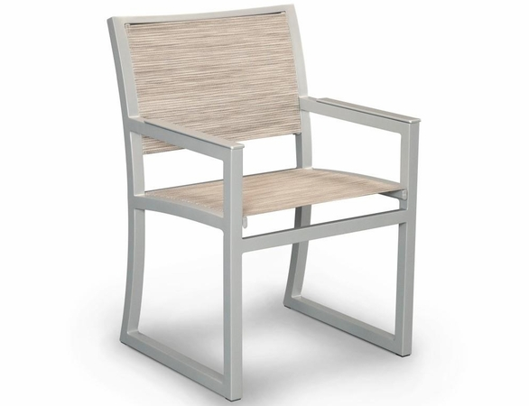 TREX Parsons Cube Dining Sling Arm Chair