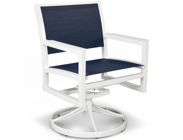 TREX Parsons Cube Sling Swivel Rocker Chair