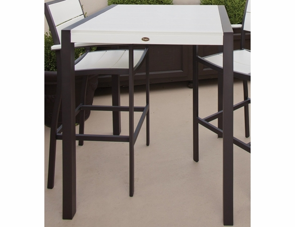 TREX Surf City 36 in x 73 in Bar Table