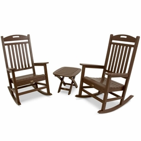 TREX Yacht Club 3 Piece Rocker & Side Table Set