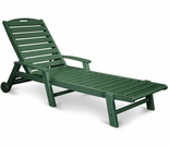 TREX Yacht Club Chaise with Wheels