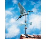Verdigris Copper Heron Weathervane