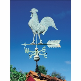 Verdigris Copper Rooster Weathervane