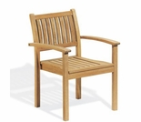 Oxford Garden Warwick Shorea Stacking Armchairs (set of 2 or 4) - Discounted Labor Day Event Pricing