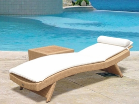 Wave Wicker Sun Bed Lounge Chair - Color Options - Special Closeout Pricing