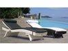 Wave Wicker Sun Bed Lounge Chair Group - 2 Piece Set - Special Closeout Pricing