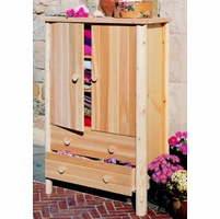 White Cedar Armoire - Not Currently Available