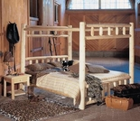 White Cedar Canopy Rustic Bedroom Furniture - Closeout Pricing!