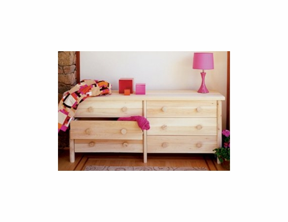 White Cedar Six Drawer Dresser
