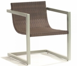Whitecraft by Woodard All-Weather Sheridan Wicker Dining Arm Chair