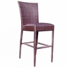 Whitecraft by Woodard All -Weather Wicker Padded Seat Bar Stool w/out Arms