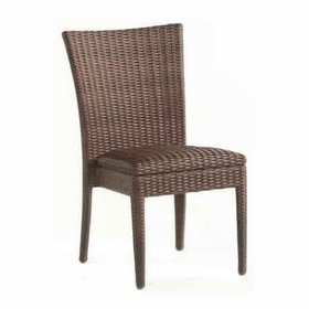 Whitecraft by Woodard All -Weather Wicker Padded Seat Dining Side Chair