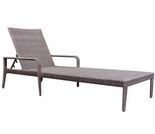 Whitecraft by Woodard All-Weather Wicker Single Adjustable Chaise Lounge