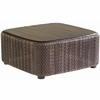 Whitecraft by Woodard Aruba Wicker Coffee Table with Teak Top