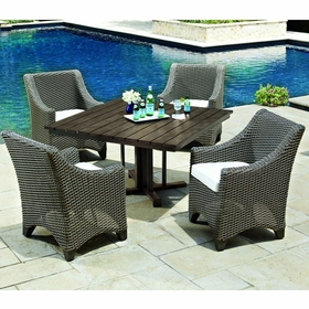 Whitecraft by Woodard Augusta 4 Seat Dining Set