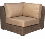Whitecraft by Woodard Augusta Wicker Corner Sectional Unit