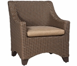 Whitecraft by Woodard Augusta Wicker Dining Arm Chair