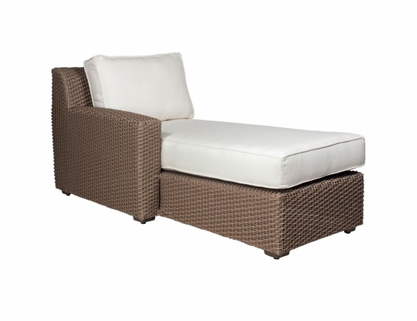 Whitecraft by Woodard Augusta Wicker Left Arm Facing Chaise Sectional