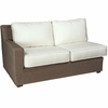 Whitecraft by Woodard Augusta Wicker Left Arm Facing Loveseat Sectional