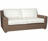 Whitecraft by Woodard Augusta Wicker Loveseat