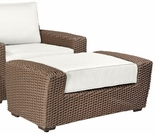 Whitecraft by Woodard Augusta Wicker Ottoman