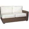 Whitecraft by Woodard Augusta Wicker Right Arm Facing Loveseat Sectional