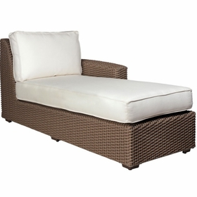 Whitecraft by Woodard Augusta Wicker Right Arm Facng Chaise Sectional