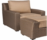 Whitecraft by Woodard Augusta Wicker Stationary Lounge Chair