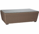 Whitecraft by Woodard Augusta Wicker Woven Coffee Table