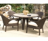 Whitecraft by Woodard Bali 4 Seat Dining Set