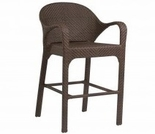 Whitecraft by Woodard Bali Wicker Bar Stool w/ Arms
